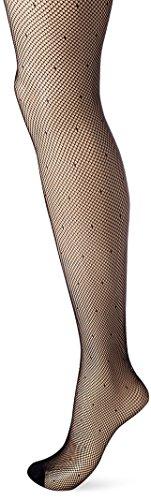Dim Sexy Résille Plumetis Collants, 65 DEN, Noir, 1/2 Femme