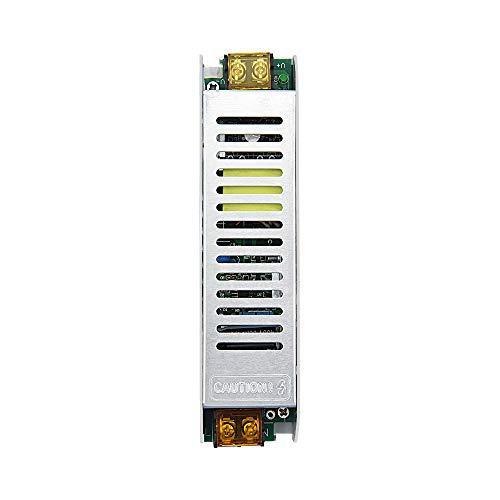 Bonlux Alimentatore LED 120W 5A AC 175V-250V a DC 24V Convertitore di Commutazione Adattatore Trasformatore a Bassa Tensione Slim Driver Interruttore Regolato Illuminazione Esterna,Cartellone,Giardino