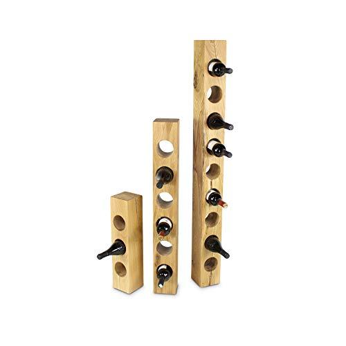 GREENHAUS Weinständer Eiche 140x13x13 cm 9 Flaschen Massivholz und Handarbeit aus Deutschland Weinregal Holz