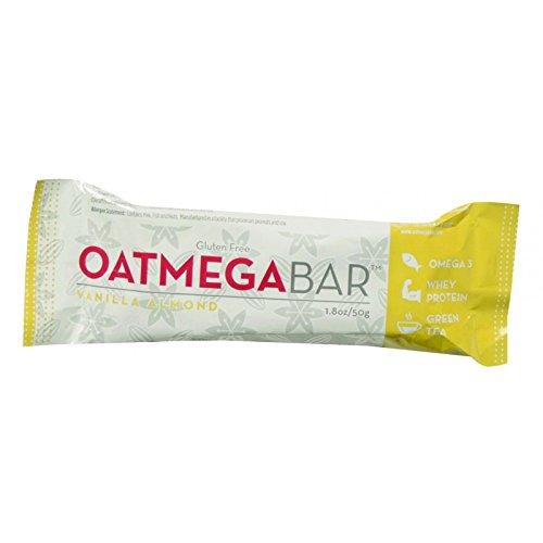 Oatmega Vanilla Almond Crisp Bar, 1.8 Ounce -- 12 per case.12