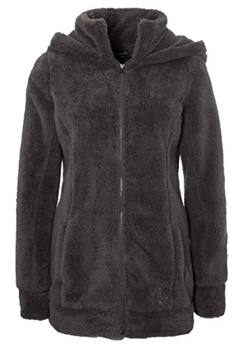 Sublevel Damen Kuschel Fleece-Mantel aus Teddy-Fleece Brown XS