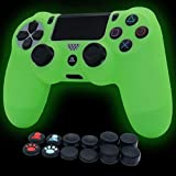Ps4 Controller Skin Silicone Cover in Dark Protective Case for PS4/slim/PS4 Pro Dualshock 4 Controller  (Green)