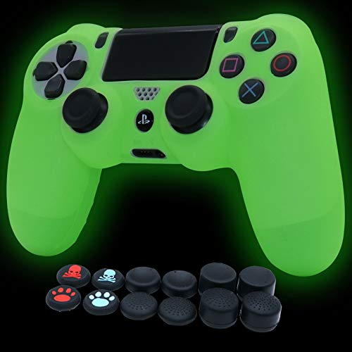 PS4 - Custodia protettiva in silicone per controller PS4/slim/PS4 Pro Dualshock 4 (verde)