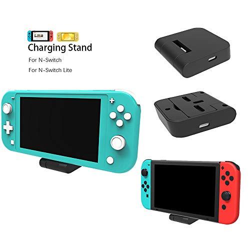BECROWMEU - Base de carga para Nintendo Switch, cargador para Nintendo Switch Lite, USB tipo C, base de carga para Nintendo Switch Host