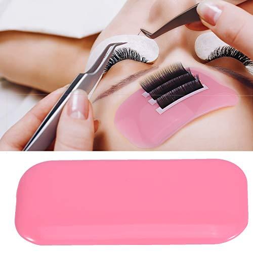 Silicone Faux Cils Colle Pad , épaississent Patches Autocollants Pads Cils Colle Jetables Stickers Outil D'Extension de Cils Permanente de Cils pour Maquillage(Rose)
