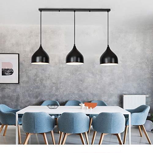 WENY Moderno Negro E27 Colgante De Luz Cocina Lámpara Colgante Industrial Retro Colgante De 3 Luces para Sala De Estar, Cocina, Dormitorio, Salón