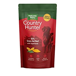Natures Menu Country Hunter Dog Food Pouch Grass Grazed Beef 3 x (6 x 150g)