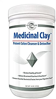 Medicinal Clay - Bentonite Colon Cleanse and Gut Detox - Digestive Support - Trace Mineral Supplement - Safe & Gentle Formula - Facial Mask/Acne Treatment - Non-GMO - Gluten Free - No Heavy Metals