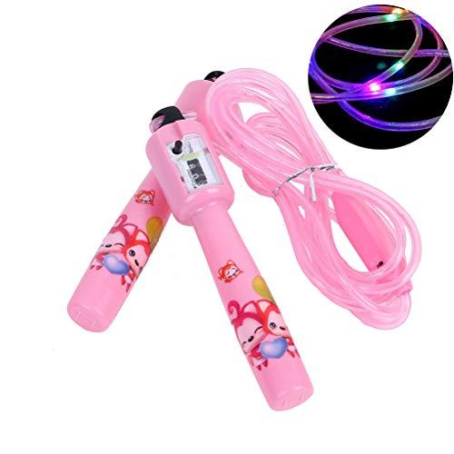 Phayee Kinder LED leuchtende Springseil mit Zähler für Kinder Licht Springseil für Kinder Party Light Show Fitness
