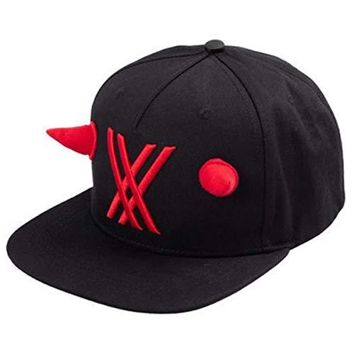 Darling in The FranXX: Zero Two Cosplay Hat, unisex, casual ajustable, béisbol para deportes