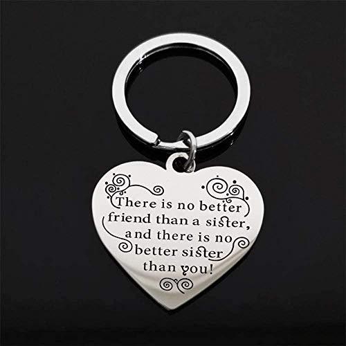 Mxdztu Co.,ltd Collar Collar De Acero Inoxidable Blanco De Moda con Letras Collar De Etiqueta De Corazón De Hermana para Mujer