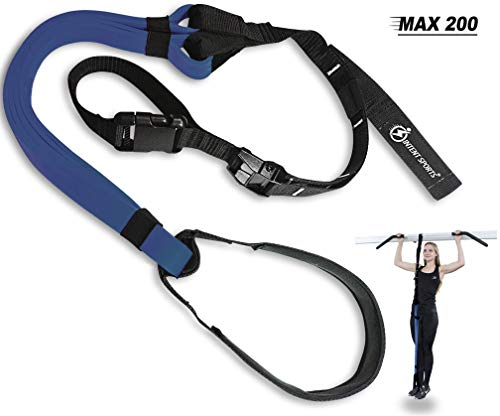Intent Sports Pull Up Assist Band MAX 200 - UP to 200 LB of Assistance! - Chin Up - Workout eBook! - High-Performance - Resistance Bands - Crossfit or Workout Program, Exercise Videos (Patented)