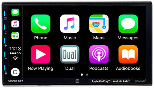 DUAL XDCPA9BT 7 inch LED Backlit LCD Digital Multimedia Touch Screen Double DIN Car Stere (Renewed)