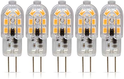 Simba Lighting LED G4 Bulb 5 Pack 1 5W T3 20W Halogen Replacement 12V AC DC JC Bi Pin Base for product image