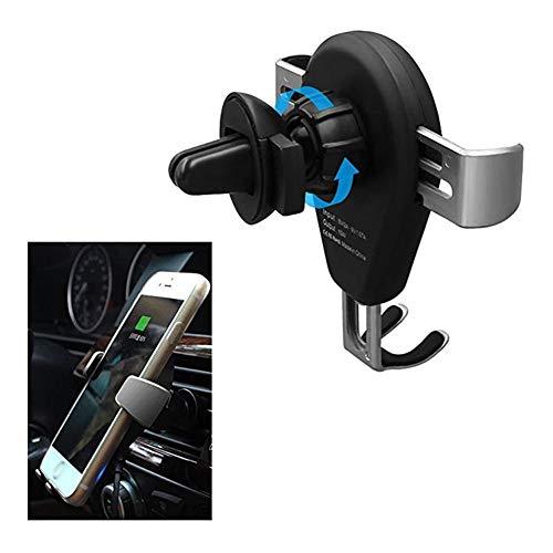 LTGJJ mobiele telefoonhouder voor in de auto, 360 graden draaibaar, snel opladen, zwaartekrachtverbinding, ventilatie