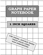Graph Paper Notebook: 1 Inch squares (100 pages, thick solid lines)