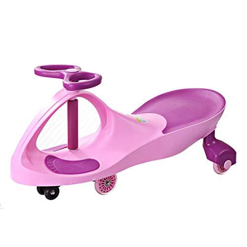 CAIMEI Coche giratorio para niños, juguete para niños de 18 meses a 6 años (color: azul), rosa