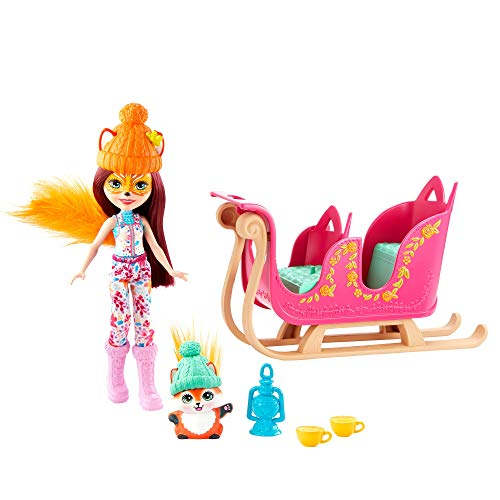 Enchantimals SNOWTASTIC SLED con MUÑECAS Felicity Fox Y Flick (Mattel GJX31)