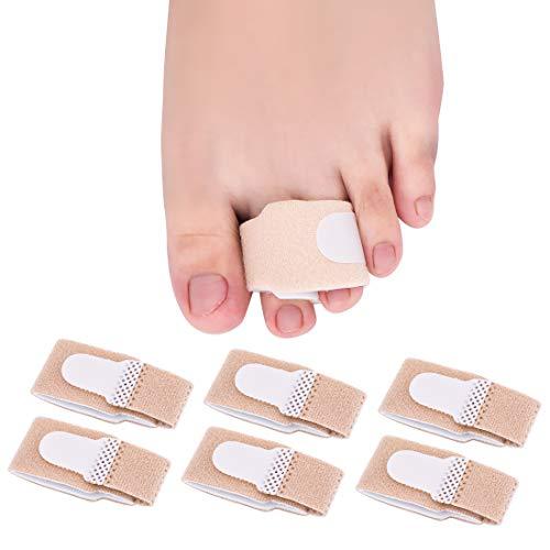 6 Stücke Zehenbandage Zehenschutz Fingerschiene Hammerzehen Zeh Schiene Bandage für Finger Hammer Toe