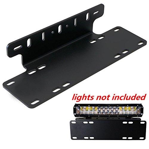 Triclicks Universal Schwarz Kennzeichenhalterung Nummernschildhalter LED-Lichtleiste Halter für Auto, Lkw, Pickup, SUV, 4x4