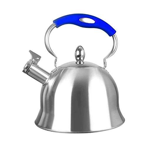 Kettle de silbato portátil Acero Inoxidable 4L Menaje camping Cocina Hervidor silba...