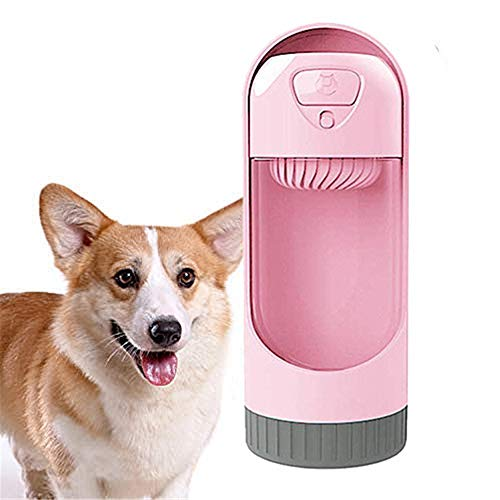 Dog Water Bottle For Walking Pet Drinking Cup Dog Water Bottle Out Drinking Water Bottle Pet Outdoor Supplies Summer Portable Water Cup Dog Drinking Kettle pink