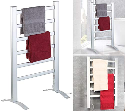 Sichler Haushaltsgeräte Handtuchheizung: 2in1-Handtuchwärmer & Heizkörper, 90 Watt, zum Aufstellen & Aufhängen (Handtuchhalter)