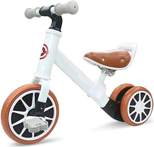 Bicicleta de equilibrio para bebés de 12 meses, juguetes infantiles para niños de 3 a 6 años, triciclo dos en uno, primer regalo para crecer blanco