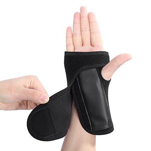 Wrist Strap, Lightweight Black Adjustable Wrist Brace, Washable Men Women for Tennis Bowling Yoga(Right hand)