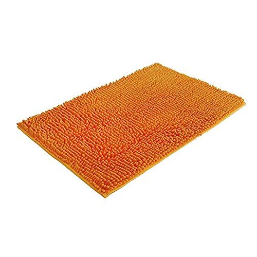 litulituhallo Tapis de salle de bain antidérapant, super absorbant, rectangulaire, paillasson orange