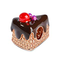 🍰SPECIFICATION & MATERIALS -- Metal:925 Sterling Silver;Weight 5.6 g;Width 12 mm;Height 14.5 mm;Thickness 11.4 mm;Inner Diameter 4.5 mm. Easy To Wear.Sterling Silver is Healthy for Skin.Fit All Major Brands Of Bracelets & Necklaces. 🍰YOUR FAVORITE SW...