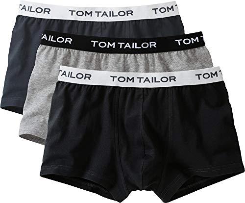 TOM TAILOR Boxer Briefs, Herren Boxershorts, 3er Pack (L / (6), schwarz/anthrazit/grau)