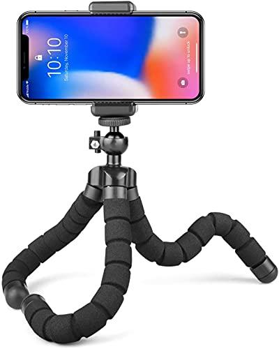 Treppiede Portatile Octopus Style con Supporto per Phone, Qualsiasi Smartphone, Videocamera con Clip Universale