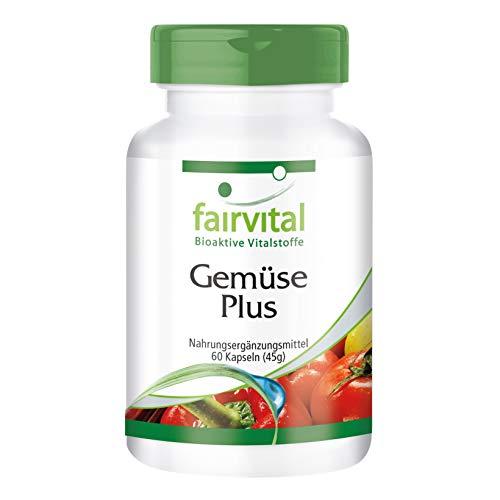 Gemüse Plus - HOCHDOSIERT - 60 Kapseln - enthält hochwertige Gemüsepulver und Vitamine