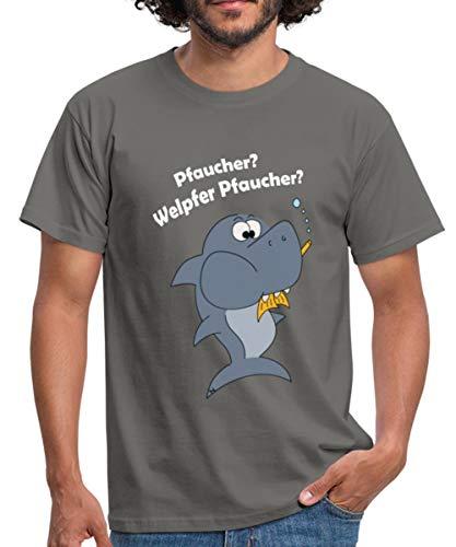 Taucher Lustig Tauchen Fisch Pfaucher Witziges Männer T-Shirt, S, Graphite