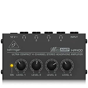 Behringer HA400 Microamp 4 Channel Stereo Headphone Amplifier from Behringer