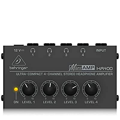 Behringer HA400 Microamp 4 Channel Stereo Headphone Amplifier from Behringer