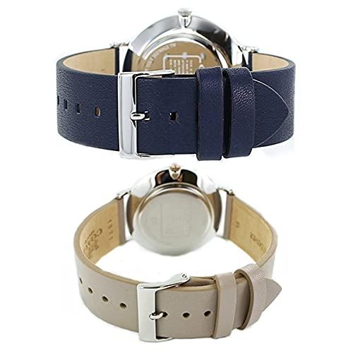 『[コーチ]COACH 収納BOX シンプル ダークネイビー グレージュ レザー 革ベルト 1460215014503245 腕時計 [並行輸入品]』の2枚目の画像