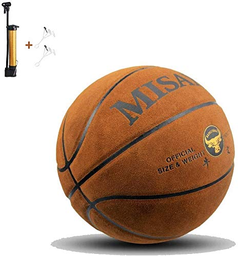 Great Features Of ZHOU.D.1 Basketball- Standard Basketball No. 7 Size 9.7 Inches (24.6 cm),Brown,wit...