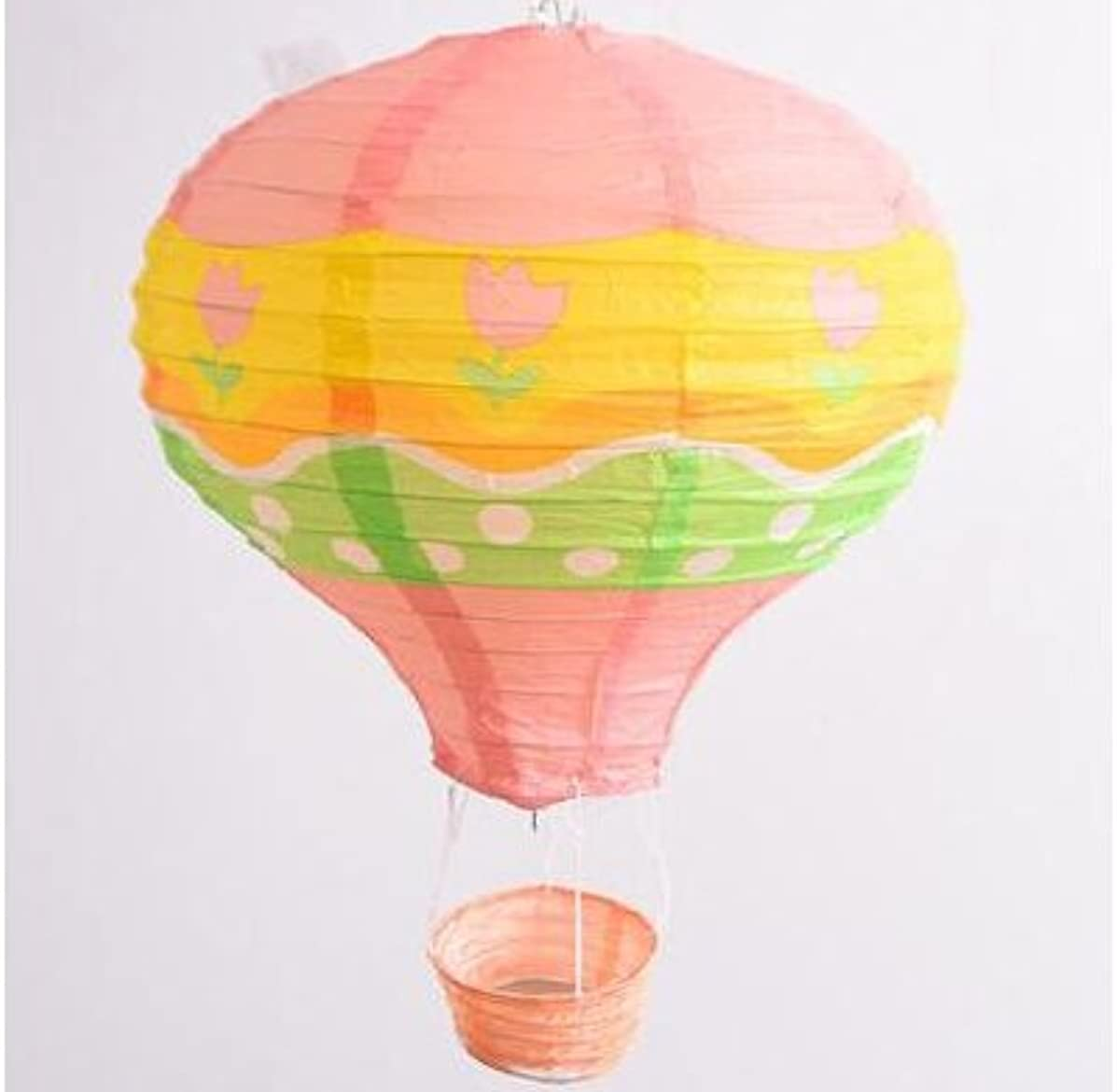 Joinwin 12 Inch Hanging Wedding Rainbow Hot Air Balloon Paper Lantern Party Decorations, Pack of 5 Pieces (Flower)