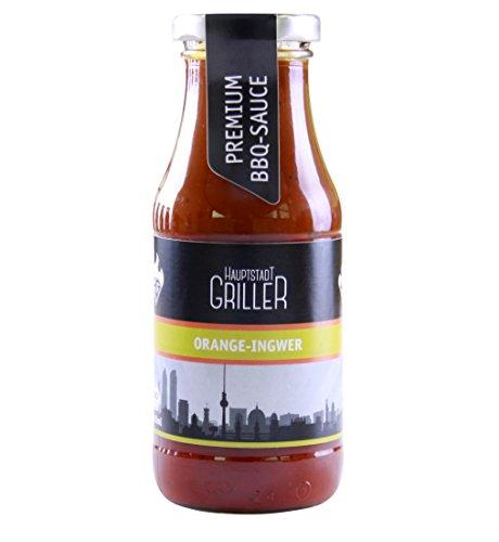 Hauptstadtgriller BBQ Sauce Orange Ingwer, Premium Grillsauce in Bio Qualität (1 x 240ml)