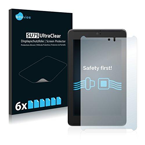 savvies 6-Pezzi Pellicola Protettiva Compatibile con ASUS FonePad 7 LTE ME372CL Protezione Schermo Trasparente