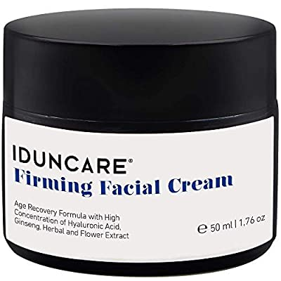 Iduncare Firming Facial Cream - Anti Aging Face Cream with Vitamin C & Hyaluronic Acid - Best Moisturizer for Dry Aging Skin, Wrinkles & Age Spots - 50 ml by Iduncare