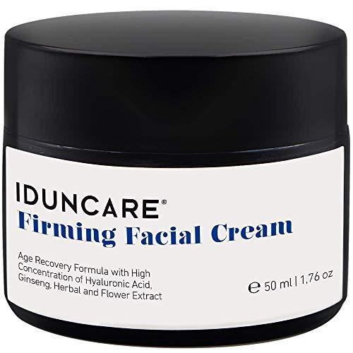 Iduncare Crema Facial Reafirmante - Crema de Cara Antiedad con Vitamina C & Ácido Hialurónico - Mejor Crema Hidratante para Piel Seca, Arrugas & Manchas en la Piel - 50 ml