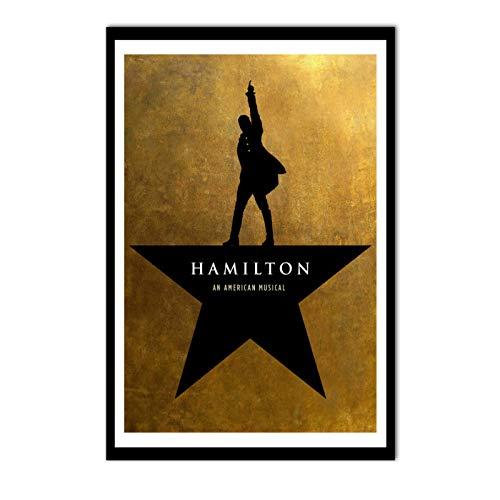 linshel Hamilton EIN amerikanisches Musikplakat Broadway-Werbemusik-Kunstplakat Wandbilder für Wohnzimmer-50x70cm ohne Rahmen