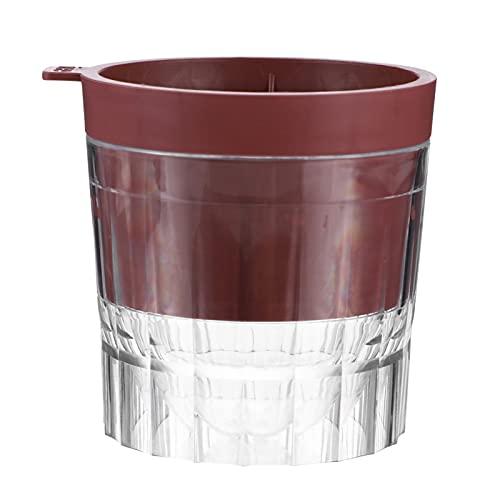 SOLUSTRE Molde de Bola de Hielo con Tapa Bandeja de Esferas de Hielo sin BPA Máquina de Hacer Cubos de Hielo de Plástico para Whisky Y Cócteles de Borbón (Rojo Oscuro)