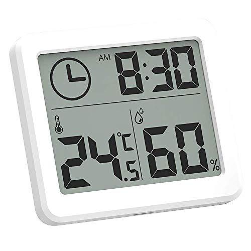 Vektenxi Digital Thermometer Indoor, 1 Stücke Mini Slim Genaue Hygrometer Thermometer Raumtemperatur Monitor Wandbehang Hause Thermometer für Gewächshaus Haus Küche Auto Langlebig und Praktisch
