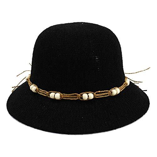 Amazing Deal Hat Women's Fold Sunshade Sun Hat Sun Hat Simple Stalk Hat Fisherman Hat (Color : 01, S...