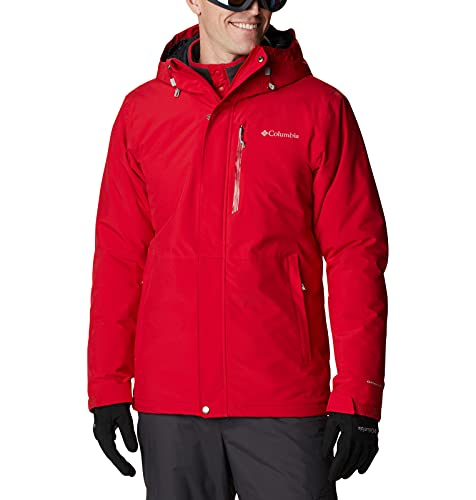 Columbia Winter District Chaqueta De Esquí con Capucha, Hombre, Rojo (Mountain Red), L