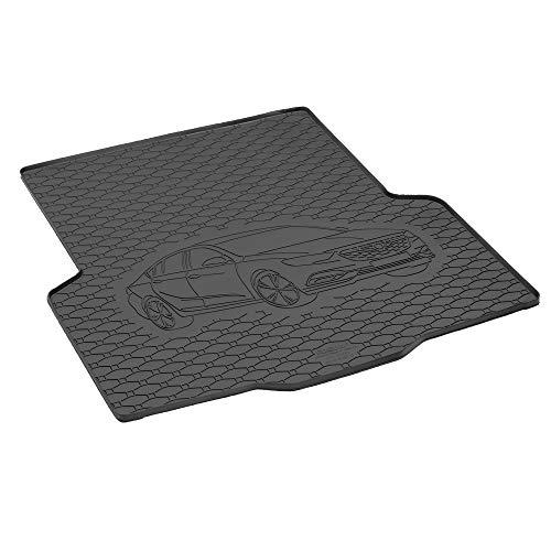 Passgenau Kofferraumwanne geeignet für Opel Insignia Grandsport/Limousine ab 2017 ideal angepasst schwarz Kofferraummatte + Gurtschoner